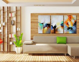 Wholesale Original Oil Paintings Modern - Modern Art Abstract Framed Oil Paintings Handpainted Picture Canvas Original Artwork for Living Room Decoration