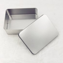 Wholesale Tin Gift Containers - 12*9*4cm Tin Container Storage Box Metal Rectangle Storage Cases Organizer For Money Coin Candy Keys Gift Boxes