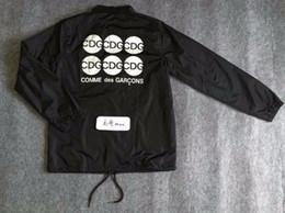 Wholesale Black Citi - Fall-CDG men clothes fall fashion hip hop black fbi jacket hot mens designer mens jackets citi trends coats outdoor windbreaker