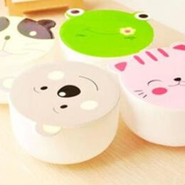 Wholesale Korean Tableware - 2017 new lovely lunch Korean children is cartoon cute lunch box microwaveable lunch box tableware wholesale bowls student free shipping