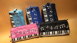 Wholesale Factory Cloths - DHL & SF _Express music piano pencil case multi color waterproof cloth Keyboard pencil bag factory price(2)