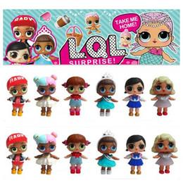 Wholesale Funny Baby Bottles - Wholesale- LQL Surprise Doll Color Change Egg Ball Toys Dress Up Toy Action Figure Dolls Funny Toys Girls Gift Randomly Sent