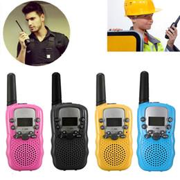 Coche walkie talkie online-Al por mayor-2pcs Way Walkie Walkie Talkie T-388 Dual negro Ajustable Portable Mini Wireless LCD 5KM UHF Car Auto VOX Multi canales