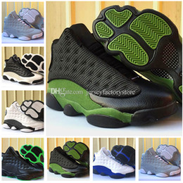Wholesale Cheap Royal Blue Shoes - 2018 Cheap New 13 XIII shoes Olive Hyper Royal Blue Mens basketball shoes for men 13s womens sport Trainer Sneakers US 5.5-13