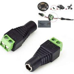 Wholesale Bnc Male Jack - DC 5.5 x 2.1mm Power Female Jack Adapter Cable Plug Connector for CCTV   LED LED UTP Balun Connectors bnc 2.1mm X 5.5mm 2000pcs