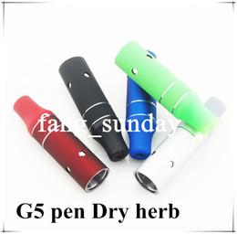 Wholesale Ago G5 Portable Vaporizer - Mini Vapor Ago G5 Atomizer Portable Dry Herbs Vaporizer Pen for 510 Thread Evod eGo Battery