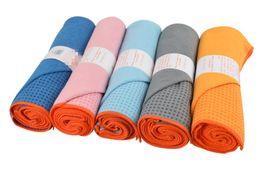 Wholesale Exercising Mat - Skidless Microfiber Yoga Mat Towel Silicon Brand New Non Slip Yoga Sport Fitness Exercise Pilates Blankets 183*61cm