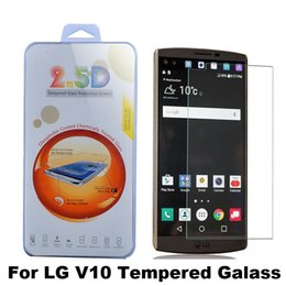 Wholesale G5 Screens - For LG V10 C40 K10 K7 G5 G4 Zone Zero Spirit Tempered Glass Screen Protector Flim 2.5D 9H Premium With Retail Package