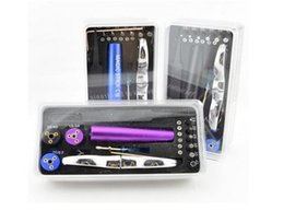Wholesale Electronic Cigarette Wick Wire - Wholesale Electronic Cigarette Accessories 6 in 1 wire coiling tool kit coil wick rba e cigarette tool box 10pcs lots