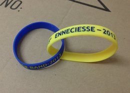 Wholesale Rubber Wristbands Bracelets Personalized - Custom Interconnect Silicone Bracelet Engraving Logo With Painting Colors Personalized Rubber Wristband
