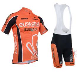 Wholesale Euskaltel Euskadi - 2015 Euskaltel euskadi Cycling Jersey short sleeves sports Jersey Bicycle Breathable Racing cycling Clothing Lycra GEL Pad Race MTB Bike