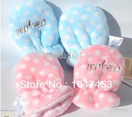 Wholesale Newborn Winter Gloves - Wholesale-Thick newborn baby anti grasping mitten Winter velvet baby gloves