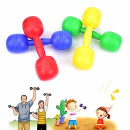 Jouets de fitness pour bébé en Ligne-Vente en gros- Bébé enfants haltères Kndergarten Outdoor Fitness Exercice Toy