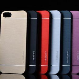 Wholesale Aluminium Note Case - Motomo Brush Case for iphone 6 plus S6 G9200 S3 S4 S5 Note 4 3 Aluminium Alloy Metal & PC