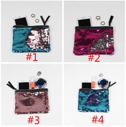 le borse cambiano i colori Sconti Paillettes Mermaid Purse Portafogli sfumati di colore 12 colori Regali di Natale per le ragazze Borsa cosmetica Cambia colore Borsa della borsa della moneta