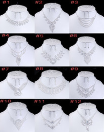 Wholesale Luxury Bridal Crystal Bracelet - Luxury 4pcs Bridal Jewelry Set For Women Ladies Romantic Wedding Acrylic Necklace Earrings Ring Bracelet Accessories