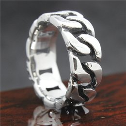 Wholesale Mens Bracelets Wholesale China - Mens Boys 316L Stainless Steel Cool Silver Bracelet Style Newest Design Ring Factory Price