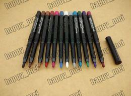 Wholesale Eyeliner Colors Waterproof - Free Shipping ePacket New Makeup Eyes Rotary Retractable Waterproof Eyeshadow Eyeliner Pencil!12 Colors