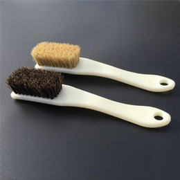 Wholesale Rowing Seats - Wholesale- 2 Pack Long Handle 6 Row Natural Boar Hair Detail Brush Clean Brush For Interiors Car Seats Leather Furniture