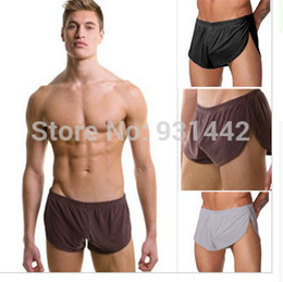 Wholesale N2n Underwear - Wholesale-Sexy N2N Men's Underwear Brands Boxer Shorts for men Mens Boxers Shorts Male Bodywear Boy Panties