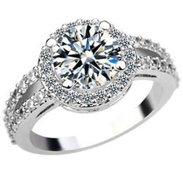 Wholesale Eight Arrows Ring - Luxury flash micro insert 2 345 diamond ring eight female heart eight zircon jewelry gift ring arrow