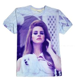 Wholesale Lana Del Rey T Shirt - 2015 Summer style hip hop t shirt men women Lana Del Rey 3d t shirt Harajuku tshirt camisa masculina plus size S-XXL