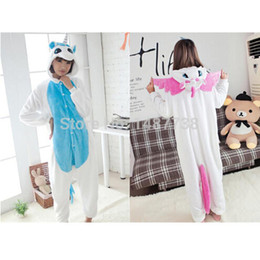 Wholesale Onesie Hoodies - New Unicorn Pajama Kawaii Onesie Anime Hoodie Pyjamas Cosplay For Holloween Christmas Party