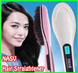Wholesale Electronic Hair Straightener - hot HQT-906 Beautiful Star NASV Fast Hair Straightener Style Straight Care Styling Tool Flat Iron With LCD Electronic Temperature Controls