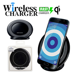 Wholesale Wireless Charger Stand - High Quality Fast Wireless Charger QI Wireless Charging Stand Holder for iphone x Samsung Galaxy S8 plus S7 S6 Edge Plus