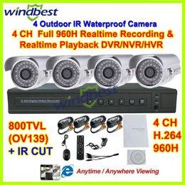 Wholesale 3g Video Camera Ir - HD 800TVL With IR CUT 4CH Full 960H 1080P HDMI H.264 3G Wifi Network CCTV DVR Kit 36pcs IR LEDs Camera Surveillance Video System