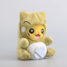 "Wholesale Ma Year - Anime Figure Toys Pikachu Cosplay Whimscott Substitute Stuffed Dolls Cute Soft Dolls 8 ""20 Cm Children X 'Mas Gift"