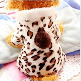 Wholesale Leopard Print Fashion Dogs - Wholesale-NEW Fashion Teddy Bear dog Chihuahua attractive soft comfort winter autumn dress dog cloth leopard print