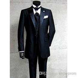 Wholesale White Dress Vest For Boys - Fashion products sell like hot cakes, the groom dress, black 2015 weddings the best man for the boy suit (jacket + + pants + tie vest
