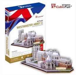 Wholesale Diy Notre Dame - Wholesale-Cubic Fun 3d puzzle DIY Paper Craft Saint Patrick's Cathedral Notre Dame DE Paris Cologne Cathedral Children's toys