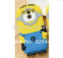 Wholesale Silicon Case Galaxy S3 - Wholesale-Cute Despicable Me Minions Case Back Cover Soft Silicon material Cell Phone Case For Samsung Galaxy S3 i9300 1pcs lot