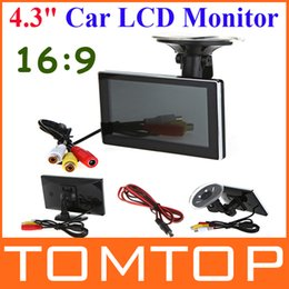 """Wholesale Slim Car Dvd - High Resolution 4.3"""" Color TFT 16:9 LCD Car Rearview Monitor for DVD VCD Camera VCR video Super Slim PAL NTSC DC 12V"""