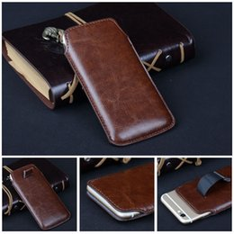 Wholesale Pull Tab Leather Pouch Case - For Samsung Galaxy S3 S4 S5 I9600 Note 2 3 Pull Tab Strap PU Leather Case Cover Skin Pouch Bag for Apple Iphone 4 5 5S 5C