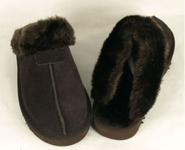 Wholesale Short Womens Winter Boots - High quality Warm cotton slippers Men And Womens slippers Short Boots Womens boots Snow boots Designer Indoor cotton slippers Leather boot