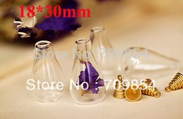 Wholesale Glass Vial Tear Drop - free shipping!!!100pcs lot 2013 Hot sale 18*30MM Tear drop glass bubble vials