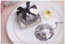 Wholesale Wholesale Tea Gift Boxes - wedding favor gift and giveaways for guest--Tea for Two Teapot Tea Infuser Favours party souvenir 100pcs lot