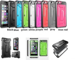 Wholesale Protective Holster Belt - Case For Samsung S6 iPhone 6 6 Plus Pro Series Heavy Duty Belt Clip Holster Case Unicorn Beetle Rugged Hybrid 2in1 Protective Cover 100pcs