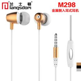 Argentina Langsdom M298 Luxury Metal 3.5mm In-Ear auriculares estéreo auriculares Subwoofer Super Bass manos libres con micrófono para el teléfono móvil Suministro