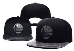 Wholesale White Stockings Cotton - New Caps 2016 Baseketball Snapback Caps Full Black Color Team Hats Snapbacks Mix Match Order All Caps in stock Top Quality Hat