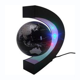Wholesale World Globe Gifts - C shape Decoration Magnetic Levitation Floating Globe World Map LED Light Christmas children novelty gift