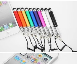 Wholesale Material Pen For Mobile - 1000pcs lot Wholesale Universal Mini Stylus Touch Pen with plastic material capacitive touch pen mobile phone tablet PC free shipping