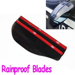 Wholesale Auto Car Rearview Mirror Cover - Hot Sale Free shipping DIY rearview mirror rainproof blades car back mirror's eyebrow rain cover auto accessory free shipping