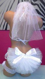 Wholesale Cheap Bikinis - Cheap Booty Veils with Bow Party Swim Suit Wedding Bikini Veil Bling Wedding Veil Bridal Set Beach Bridal Accessories Sexy Bridal Veil 2015