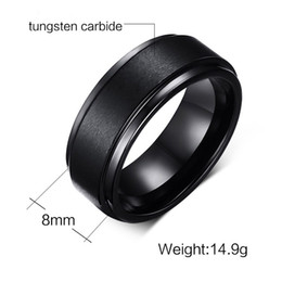 Wholesale Celtic Tungsten Carbide Wedding Band - Wedding Ring 8mm Classic Comfort Fit Mens Black Tungsten Carbide Wedding Band Ring Hot Sale Ring in USA and Europe