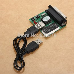 Wholesale Diagnostic Test Pc - Powerful 4-Digit PC Analyzer Motherboard Diagnostic Tester USB Post Test Card PC Laptop Free Shipping order<$18no track