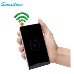 Wholesale Hdmi Auto - Wholesale- SmartIdea DLP Handheld Mini LED Projector portable pocket Beamer Android4.4 WiFi Bluetooth Proyector touch keys auto keystone